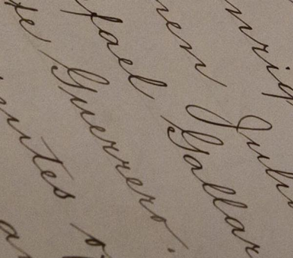A picture of a document written in cursive