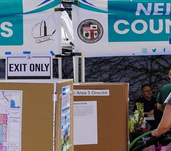 Neighborhood Council Elections #LACityVotes @LACityClerk Outdoor voting booths